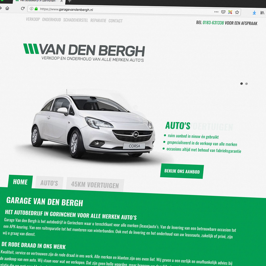 Website Garage Van den Berg